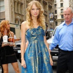 Rebecca Taylor Metallic Bow Dress ASO Taylor Swift